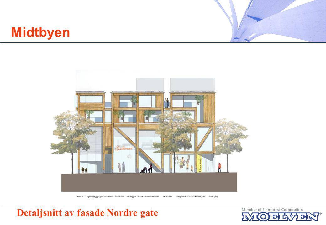 Midtbyen Detaljsnitt av fasade Nordre gate