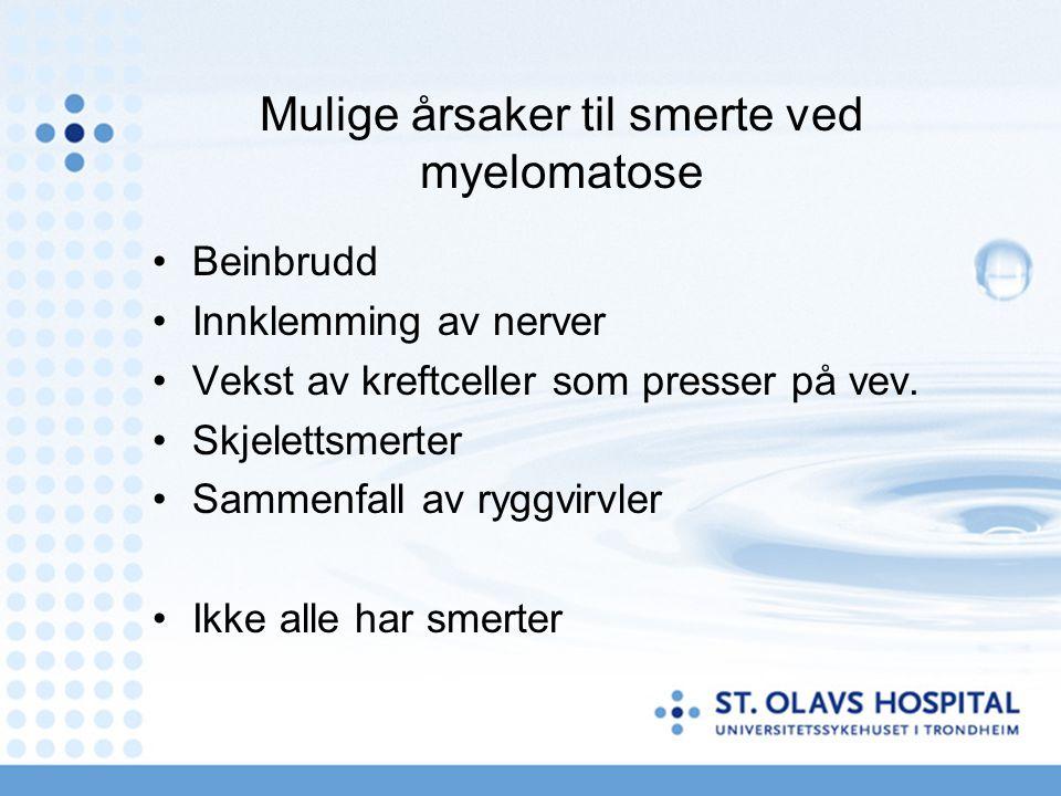 Mulige årsaker til smerte ved myelomatose