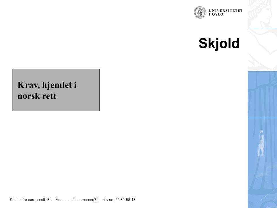 Skjold Krav, hjemlet i norsk rett