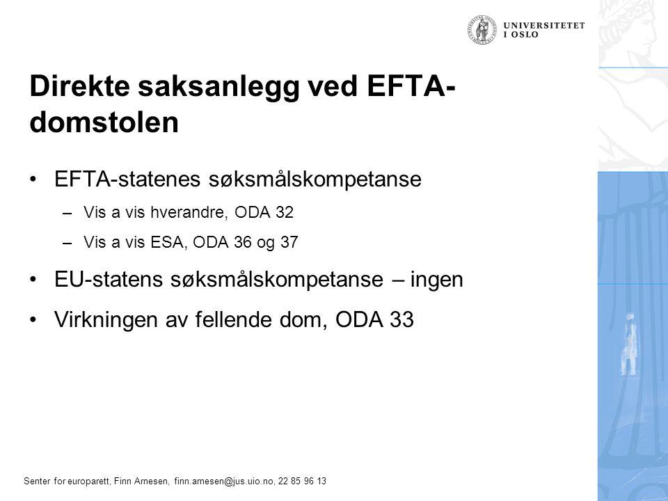 Direkte saksanlegg ved EFTA-domstolen