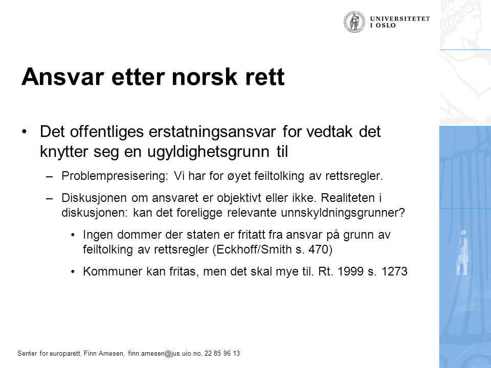 Ansvar etter norsk rett