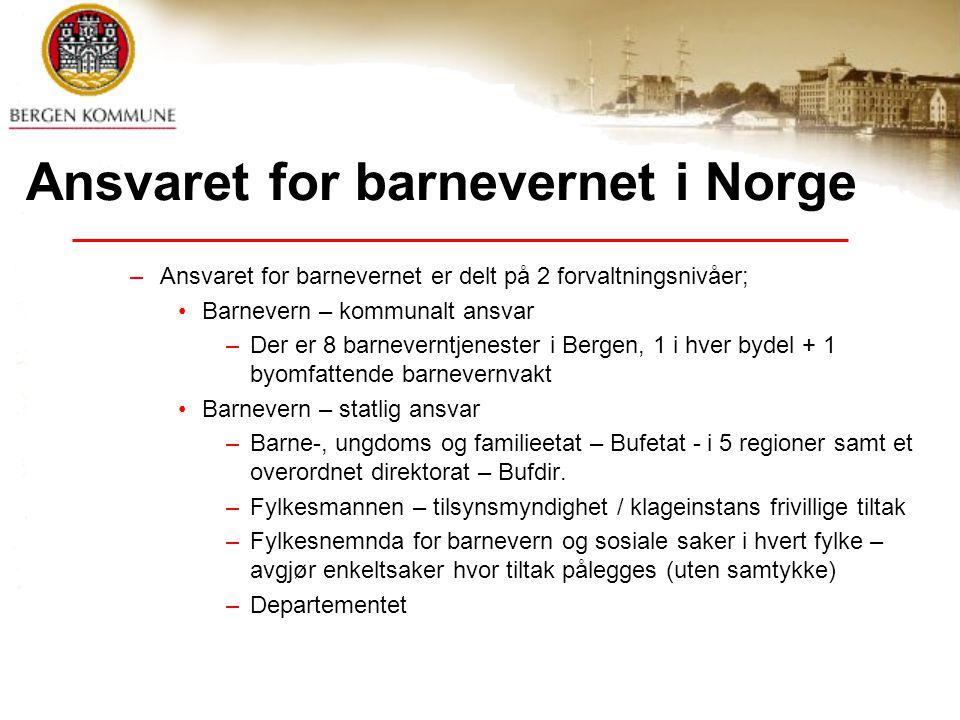 Ansvaret for barnevernet i Norge