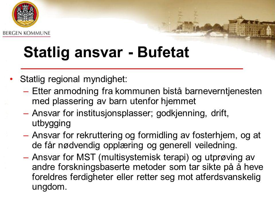 Statlig ansvar - Bufetat