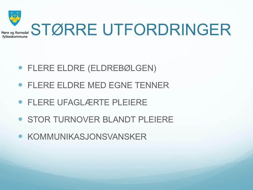 STØRRE UTFORDRINGER FLERE ELDRE (ELDREBØLGEN)