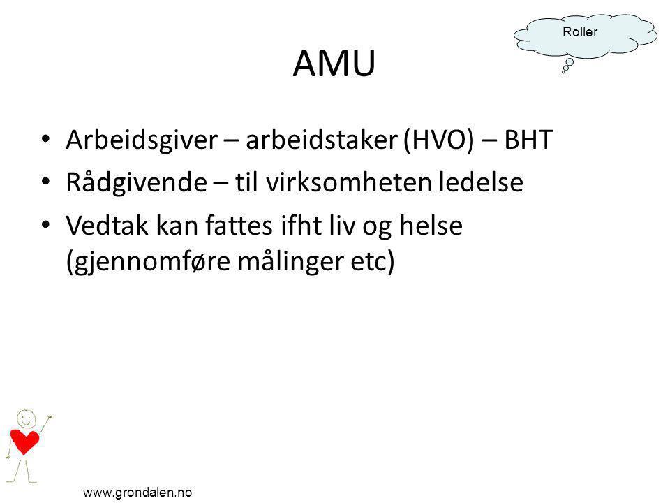 AMU Arbeidsgiver – arbeidstaker (HVO) – BHT