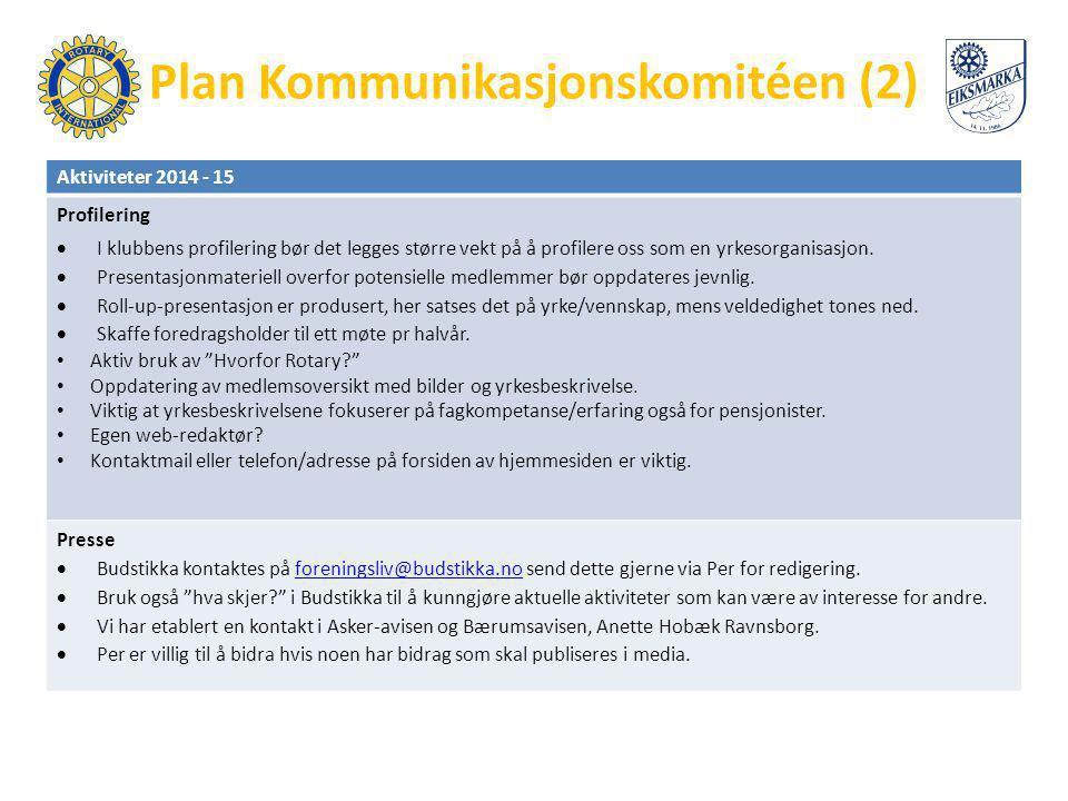 Plan Kommunikasjonskomitéen (2)