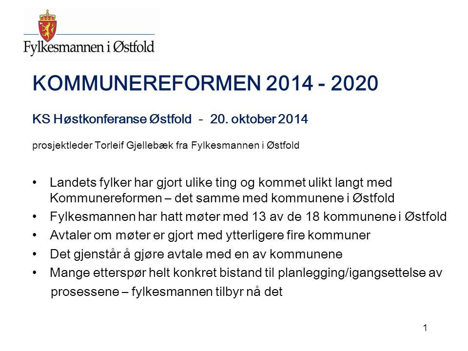 KOMMUNEREFORMEN 2014 - 2020 KS Høstkonferanse Østfold - 20