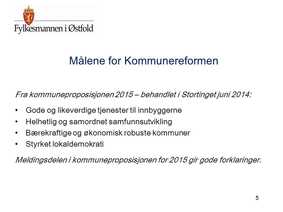 Målene for Kommunereformen