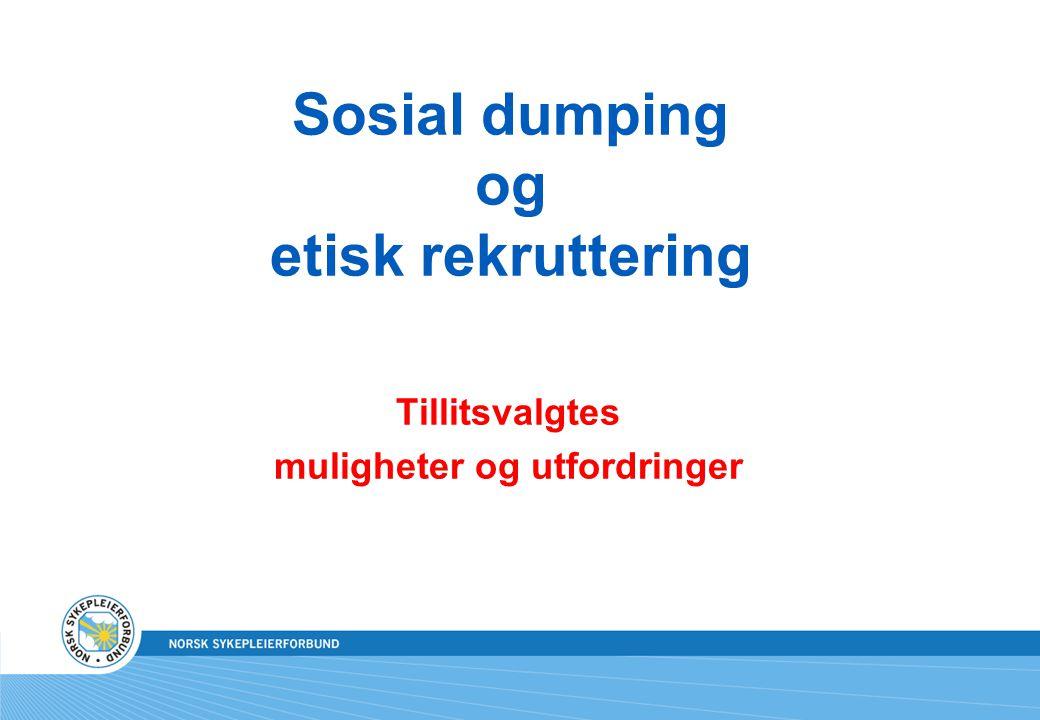 Sosial dumping og etisk rekruttering