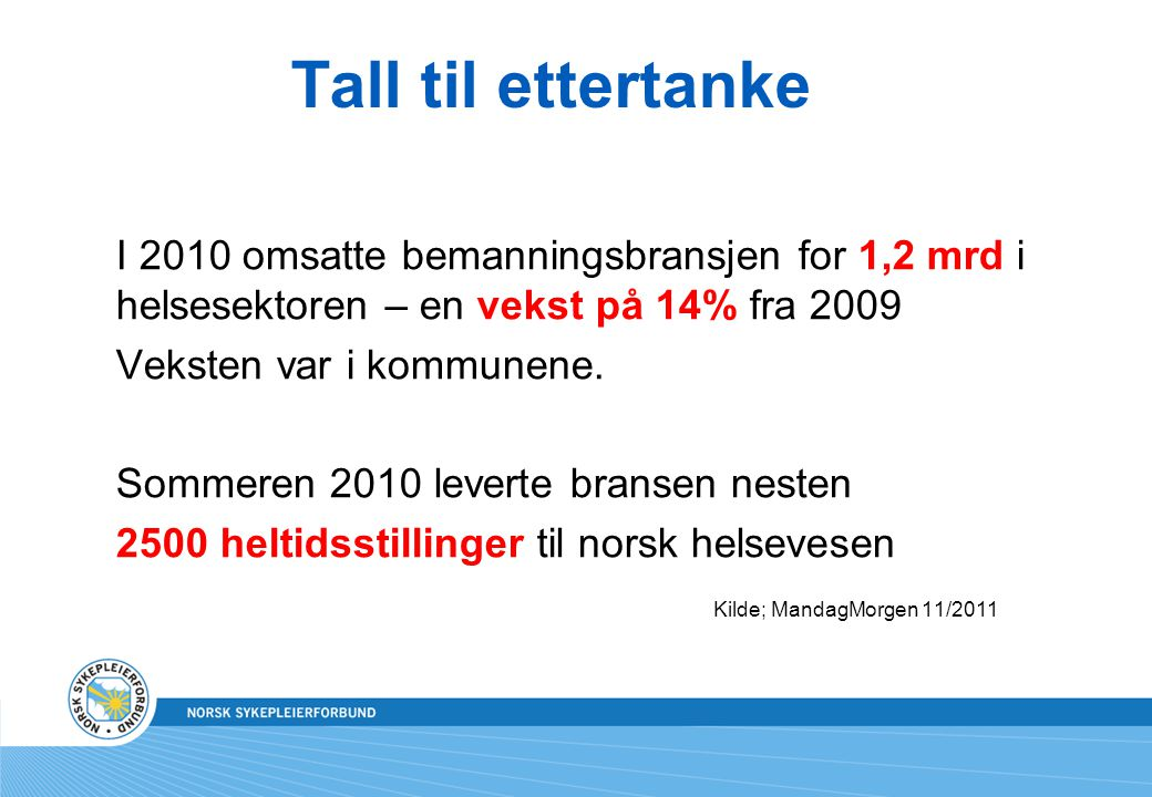 Tall til ettertanke