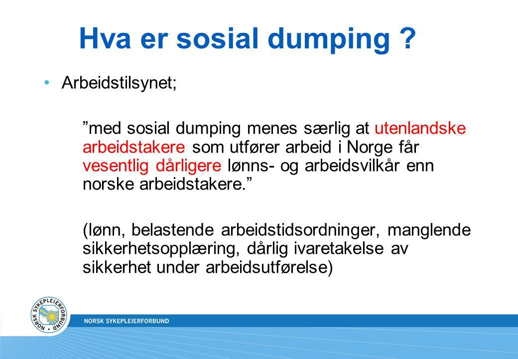 Hva er sosial dumping Arbeidstilsynet;