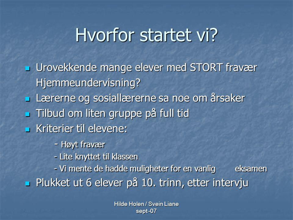 Hilde Holen / Svein Liane sept -07