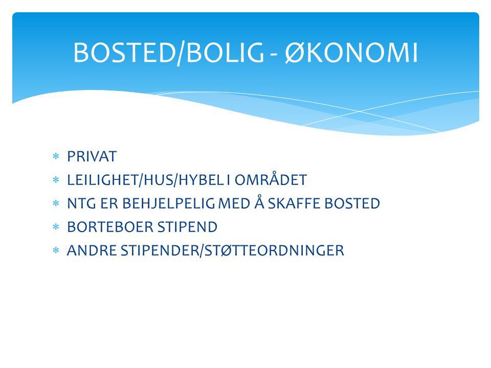 BOSTED/BOLIG - ØKONOMI