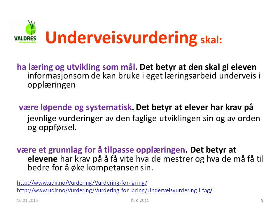 Underveisvurdering skal: