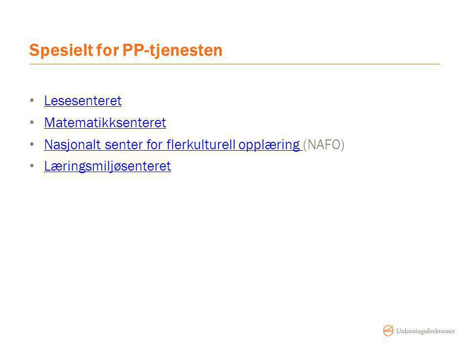 Spesielt for PP-tjenesten
