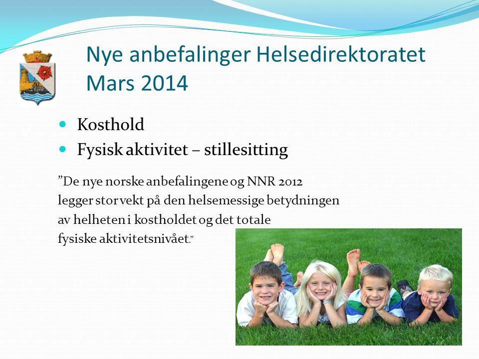 Nye anbefalinger Helsedirektoratet Mars 2014