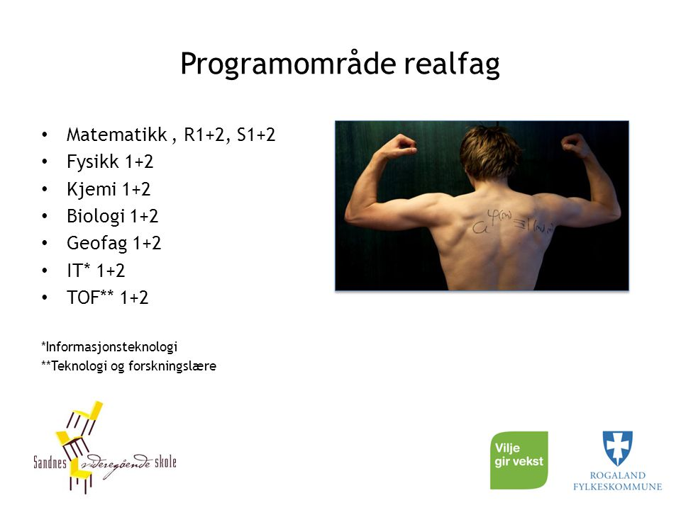 Programområde realfag