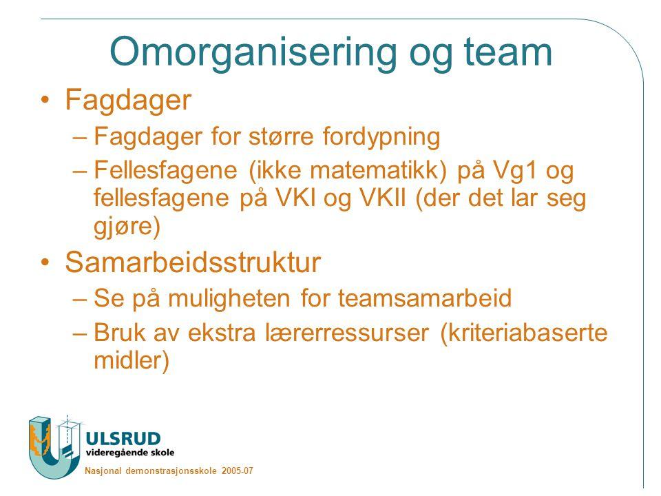 Omorganisering og team