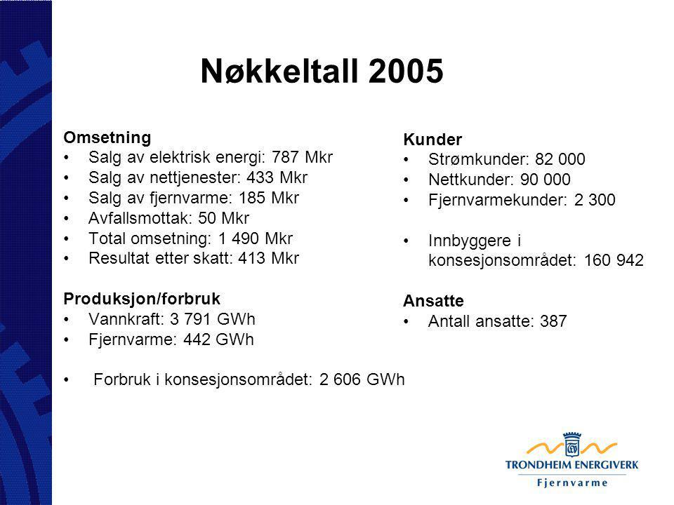 Nøkkeltall 2005 Omsetning Kunder Salg av elektrisk energi: 787 Mkr