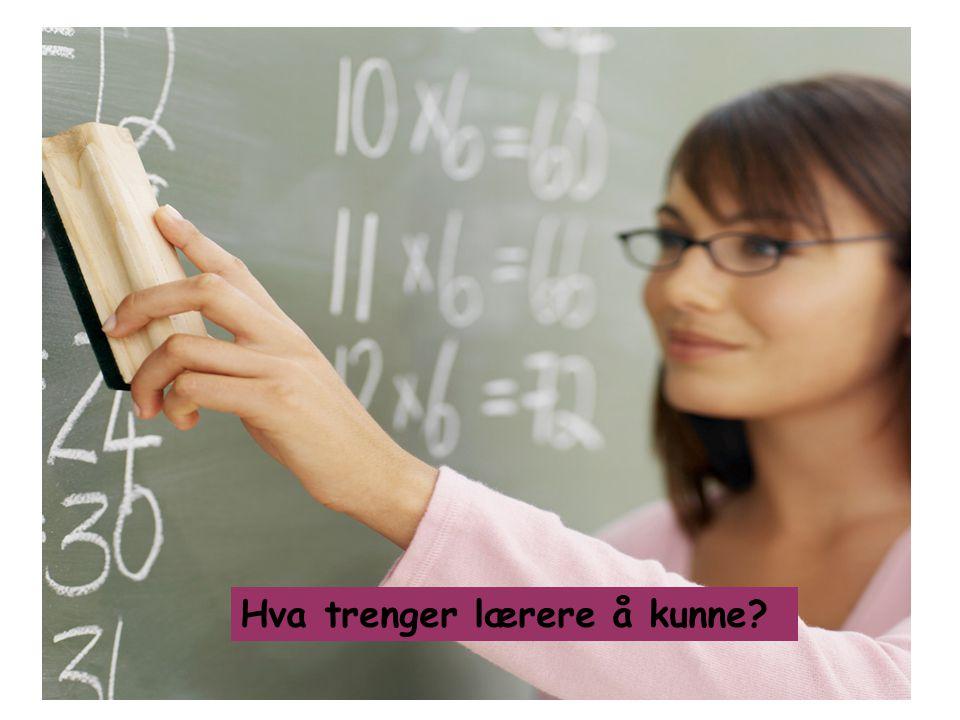 Hva trenger lærere å kunne