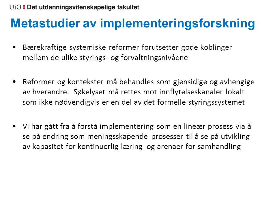 Metastudier av implementeringsforskning
