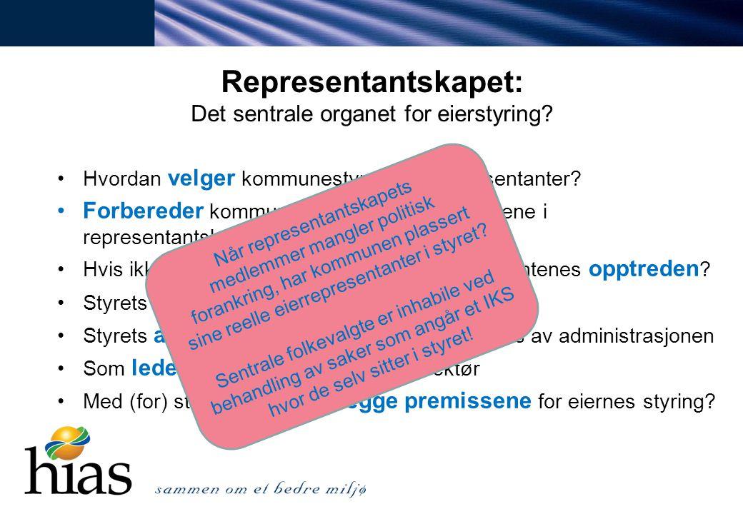 Representantskapet: Det sentrale organet for eierstyring