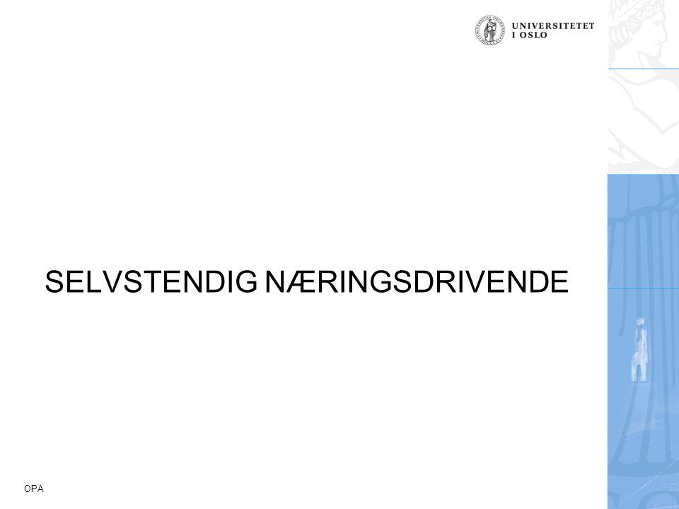 SELVSTENDIG NÆRINGSDRIVENDE