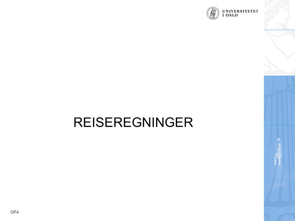 REISEREGNINGER