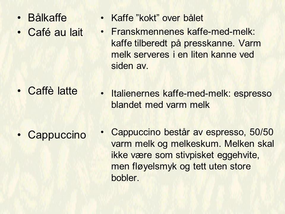 Bålkaffe Café au lait Caffè latte Cappuccino Kaffe kokt over bålet