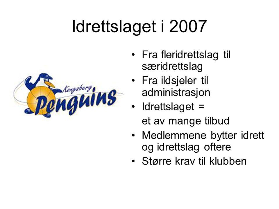 Idrettslaget i 2007 Fra fleridrettslag til særidrettslag