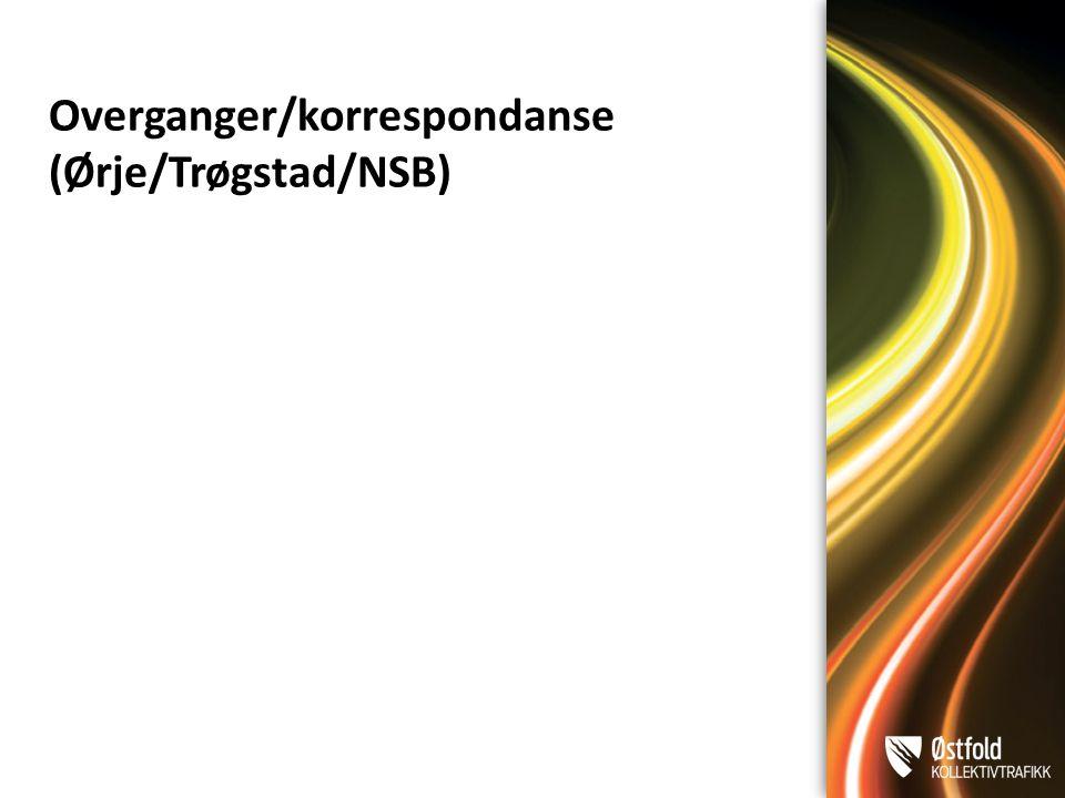 Overganger/korrespondanse (Ørje/Trøgstad/NSB)