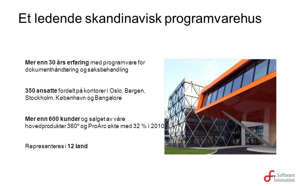 Et ledende skandinavisk programvarehus
