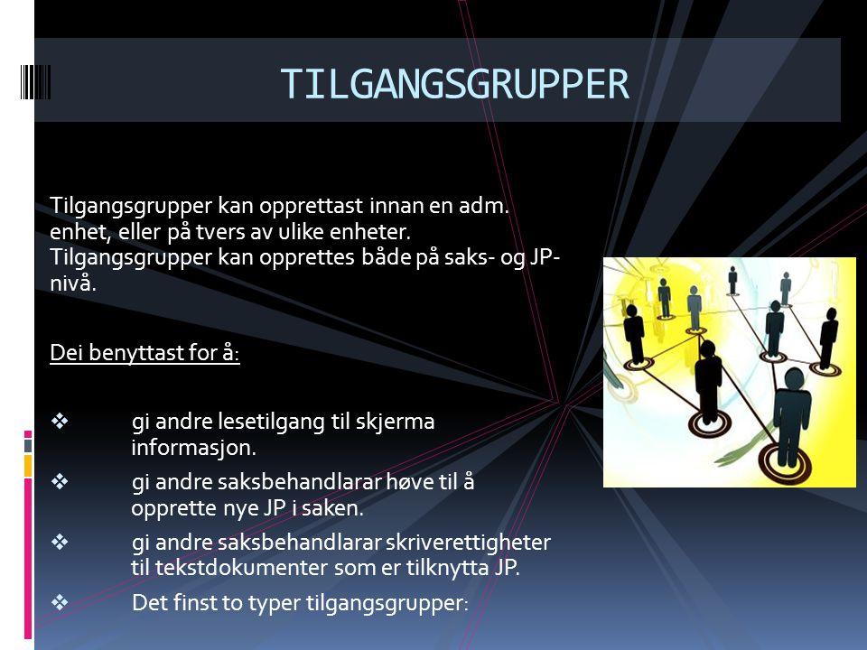 TILGANGSGRUPPER