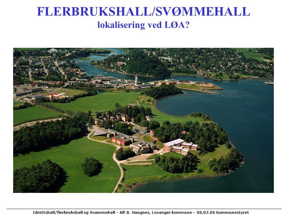 FLERBRUKSHALL/SVØMMEHALL lokalisering ved LØA