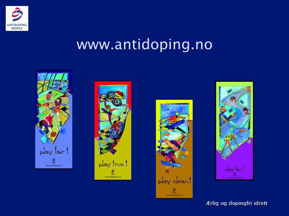 www.antidoping.no Idrett er gøy! Doping er juks!
