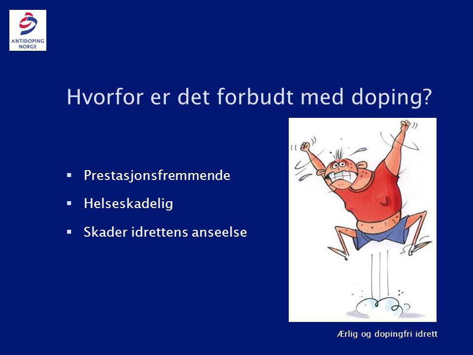 Hvorfor er det forbudt med doping