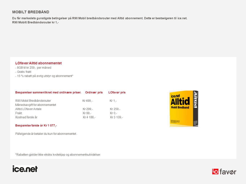 Mobilt bredbånd LOfavør Alltid abonnementet