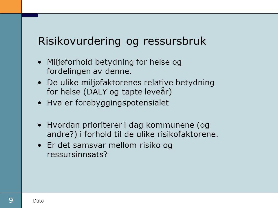 Risikovurdering og ressursbruk