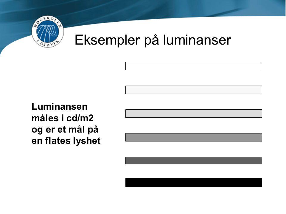 Eksempler på luminanser