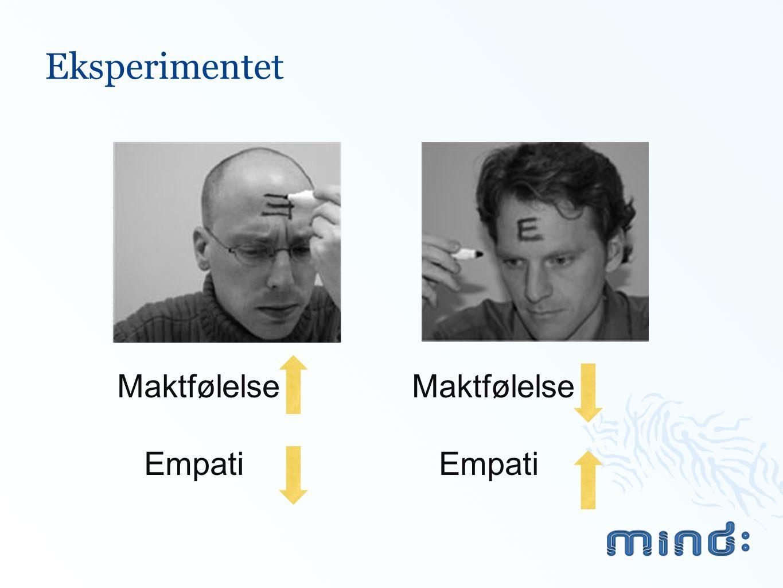 Eksperimentet Maktfølelse Empati Maktfølelse Empati