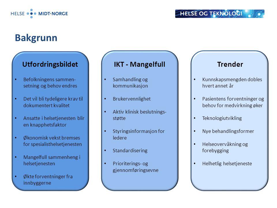Bakgrunn Utfordringsbildet IKT - Mangelfull Trender