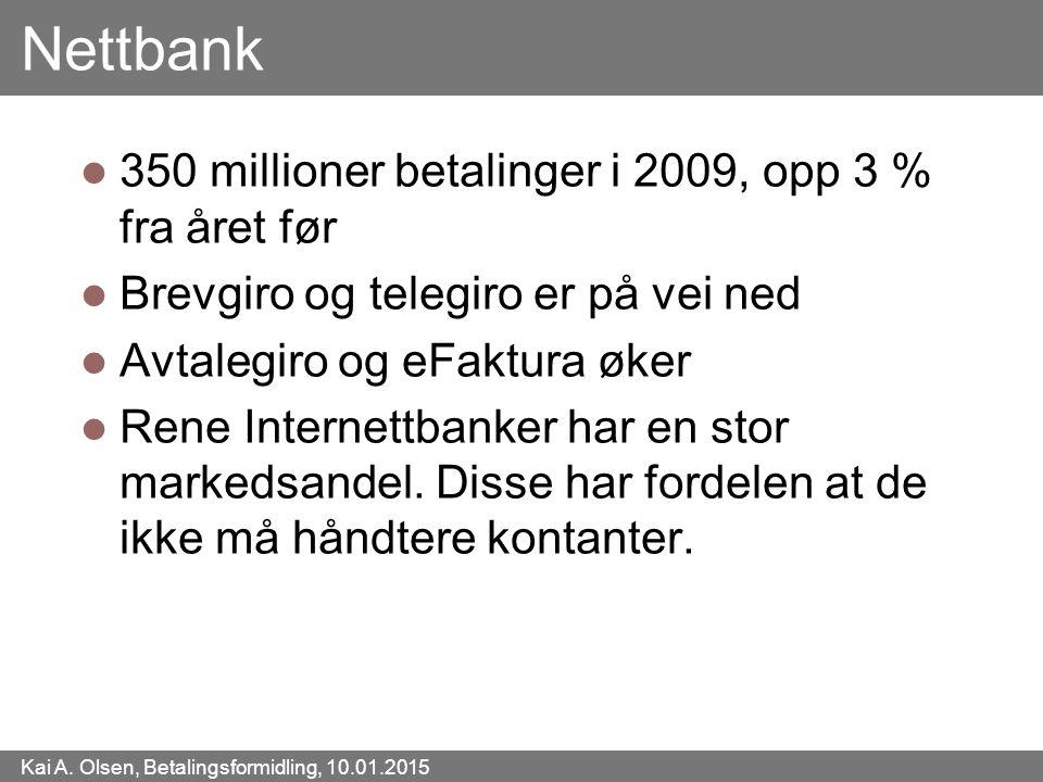 Nettbank 350 millioner betalinger i 2009, opp 3 % fra året før
