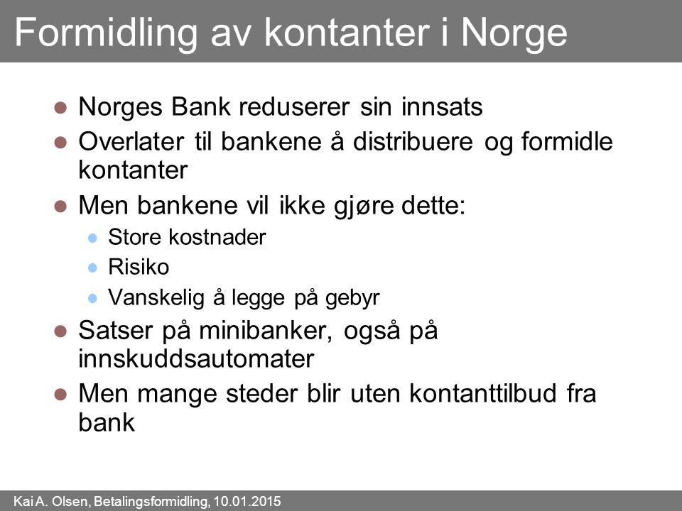 Formidling av kontanter i Norge