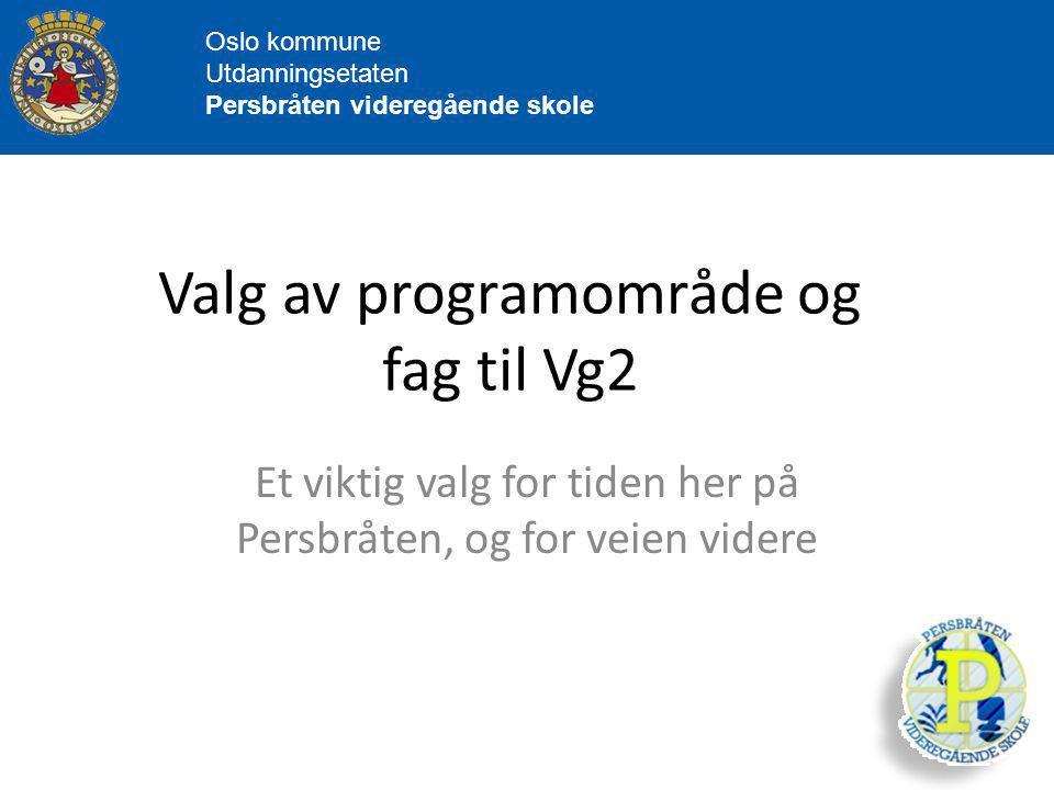 Valg av programområde og fag til Vg2