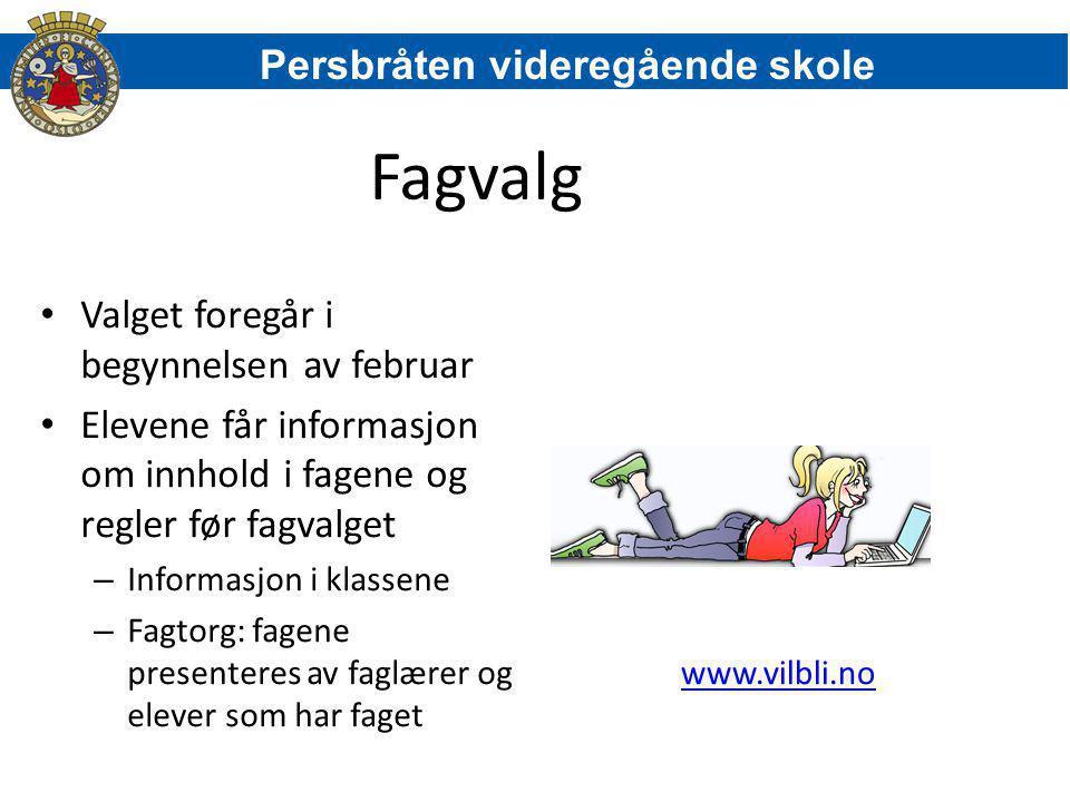 Fagvalg Persbråten videregående skole