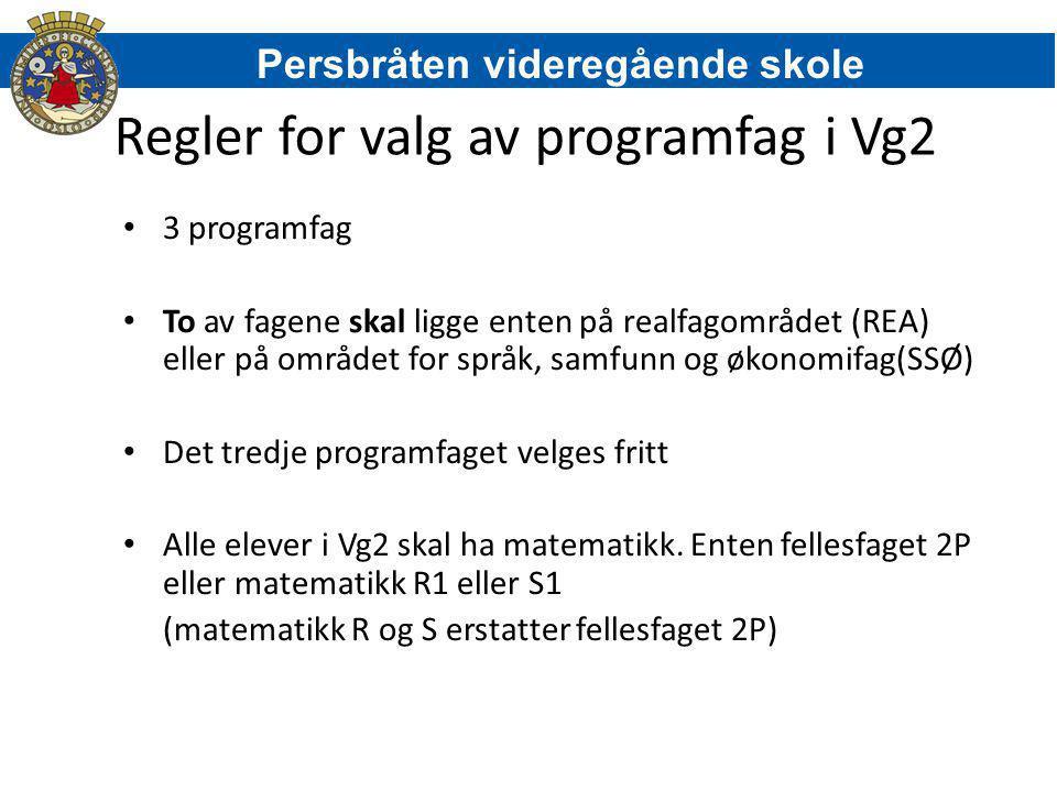 Regler for valg av programfag i Vg2