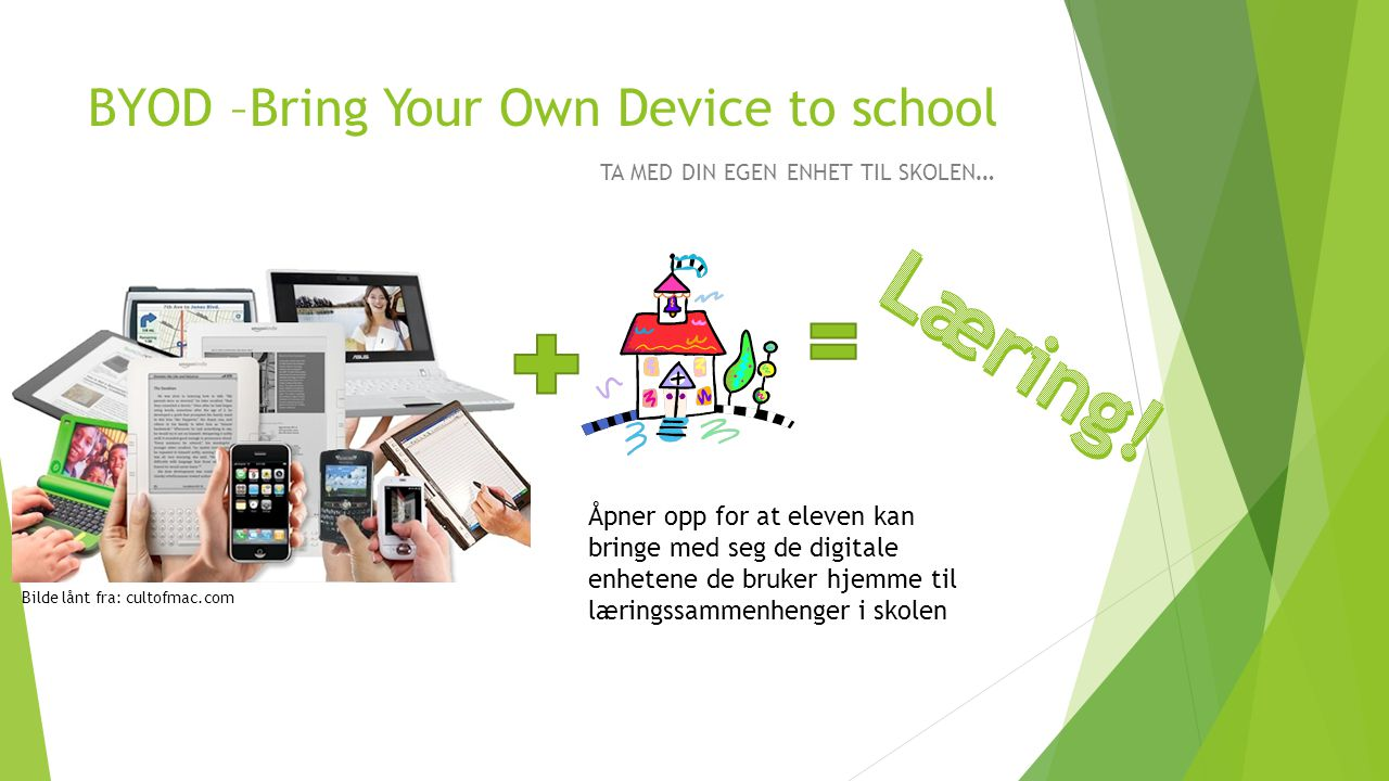 BYOD –Bring Your Own Device to school