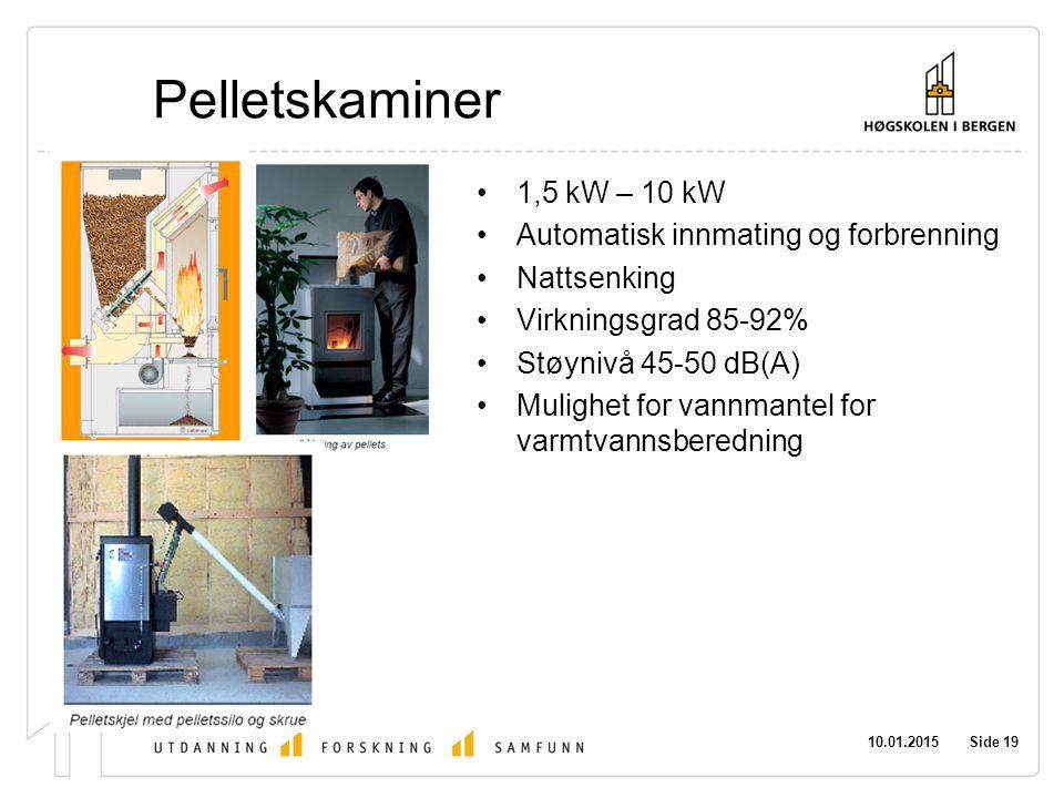 Pelletskaminer 1,5 kW – 10 kW Automatisk innmating og forbrenning