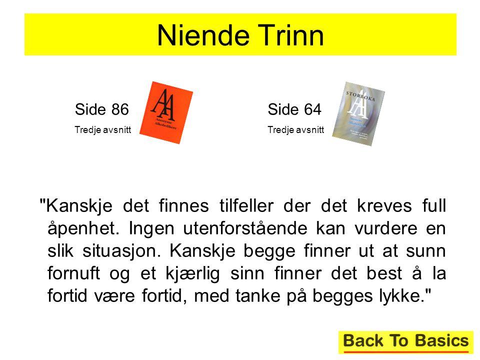 Niende Trinn Side 86. Tredje avsnitt. Side 64. Tredje avsnitt.