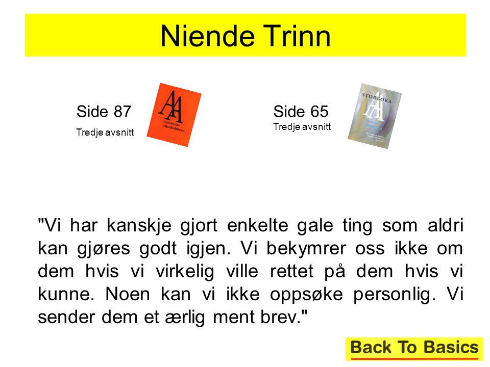 Niende Trinn Side 87. Tredje avsnitt. Side 65 Tredje avsnitt.